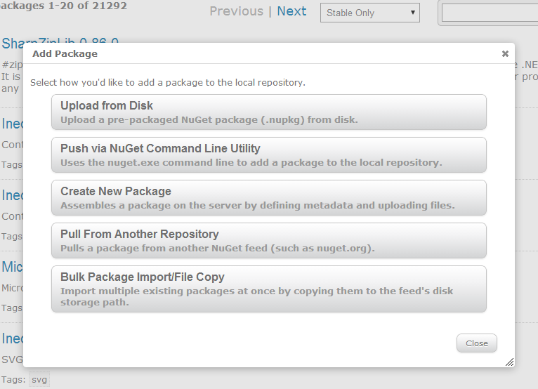 You can add packages to your ProGet feed in a number of ways