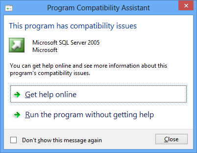 SQL 2005 Compatibility Warning