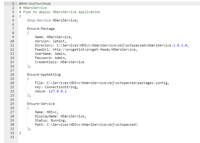 OtterScript example